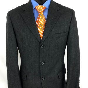 Brooks Brothers Sport Coat Herringbone Gray 38L